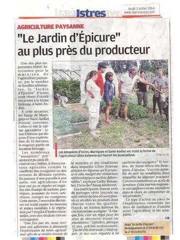 Provence du 3 juillet